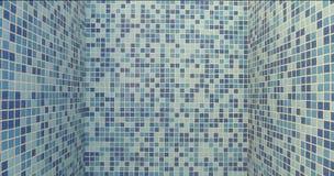 Azulejos del fondo por la piscina Foto de archivo libre de regalías