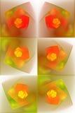 Azulejos del fractal ilustración del vector