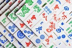 Azulejos del Mah Jong Imágenes de archivo libres de regalías