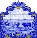 Azulejos del panel en Vila Franca de Xira Imagen de archivo libre de regalías