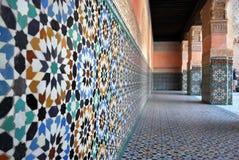 Azulejos del patio del palacio Foto de archivo
