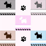 Azulejos del perro del terrier de Westie libre illustration