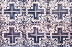 Azulejos del vintage, tejas portuguesas tradicionales imagen de archivo
