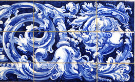 Azulejos detail from Plaza de Espana, Sevilla, background Stock Image
