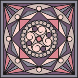Azulejos em cores retros Testes padrões do vintage Ilustração do vetor Imagens de Stock Royalty Free