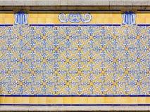 Azulejos em um exterior da construção imagem de stock royalty free