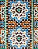 Azulejos en Ali Ben Youssef Madrassa en Marrakesh Imagen de archivo libre de regalías
