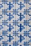 Azulejos esmaltados portugueses 082 Imagen de archivo