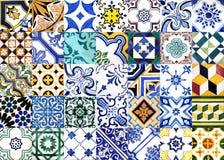 Azulejos esmaltados portugueses Imagen de archivo