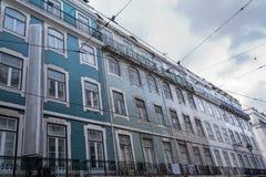 Azulejos on the façade Royalty Free Stock Image