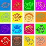Azulejos felices de la cara Fotografía de archivo libre de regalías