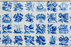 Azulejos - Fliesen von Portugal lizenzfreies stockfoto