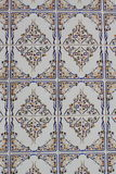 Azulejos. A form of portuguese ceramic tiles on a house at Lisbon Royalty Free Stock Photos
