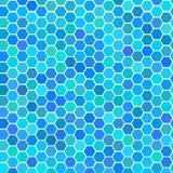 Azulejos inconsútiles azules al azar Fotos de archivo