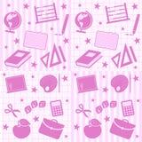 Azulejos inconsútiles de la muchacha de la escuela Imagenes de archivo