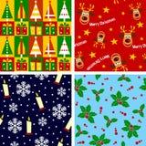 Azulejos inconsútiles de la Navidad [1] stock de ilustración