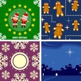 Azulejos inconsútiles de la Navidad [4] ilustración del vector
