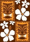 Azulejos inconsútiles de Tiki stock de ilustración