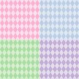 azulejos inconsútiles del modelo del Harlequin de +EPS, pasteles Imágenes de archivo libres de regalías