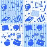 Azulejos inconsútiles del muchacho de escuela Imagen de archivo libre de regalías
