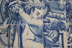 Azulejos in Lisbon Stock Images