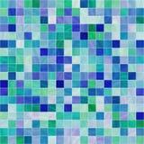 Azulejos lisos azules blancos del cuarto de baño Imágenes de archivo libres de regalías
