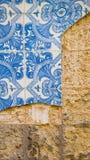 Azulejos ljus - riden ut blått Arkivbild