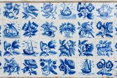 Azulejos - mattonelle dal Portogallo Fotografia Stock Libera da Diritti