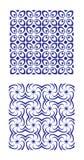 Azulejos modelados azules Imagen de archivo libre de regalías