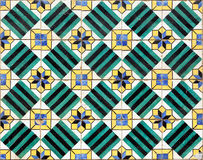 Azulejos, old handpainted tiles at Lisbon house Royalty Free Stock Image