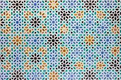 Azulejos płytki w Mudejar Stylowym tle Obrazy Royalty Free