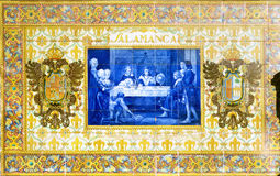 Azulejos from Plaza de Espana in Sevilla Royalty Free Stock Photography