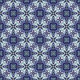 Azulejos portugais traditionnels d'ornement bleu Configuration sans joint orientale illustration libre de droits