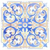 Azulejos Portugese waterverf Royalty-vrije Stock Afbeeldingen