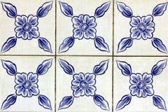 Azulejos portugis belägger med tegel Royaltyfri Foto