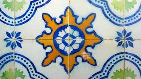 Azulejos portugisiska tegelplattor, Lissabon, Portugal Royaltyfri Foto