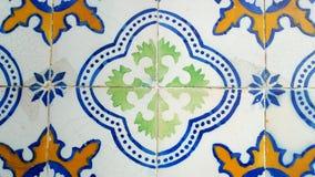 Azulejos portugisiska tegelplattor, Lissabon, Portugal Arkivbild