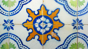 Azulejos, Portuguese tiles, Lisbon, Portugal Royalty Free Stock Photo