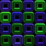 Azulejos regulares del arte metálico azules y verdes Fotos de archivo libres de regalías