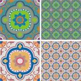 Azulejos retros del ornamento Imagen de archivo