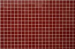 Azulejos rojos del baño Imagen de archivo