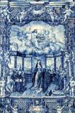 Azulejos sur Capela DAS Almas à Porto, Portugal photos stock