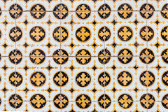 Azulejos - tegelplattor från Portugal arkivbilder