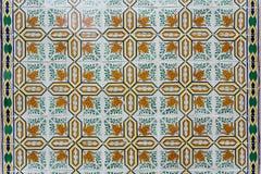 Azulejos - tegelplattor från Portugal royaltyfri foto