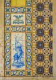 Azulejos tegelplattor i Lissabon Arkivbilder