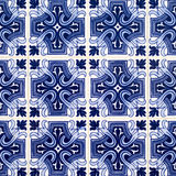 Azulejos, tiled background Royalty Free Stock Images
