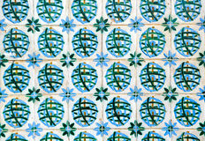 Azulejos, traditional colorful Portuguese tiles Royalty Free Stock Photo