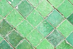 Azulejos verdes Fotos de archivo