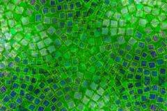 Azulejos verdes de los modelos de mosaico Fotografía de archivo libre de regalías