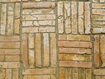 Azulejos viejos del ladrillo imágenes de archivo libres de regalías